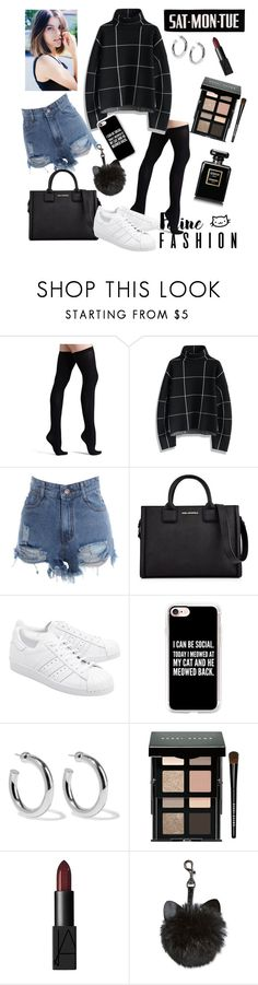 """""""L.I.E"""" by annaxcx ❤ liked on Polyvore featuring Commando, Chicwish, Karl Lagerfeld, adidas Originals, Casetify, Sophie Buhai, Bobbi Brown Cosmetics and NARS Cosmetics"""