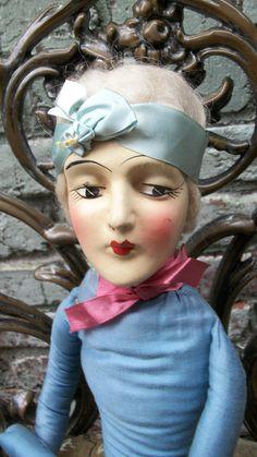 Anita Bed Doll /Boudoir Doll Flapper Art deco