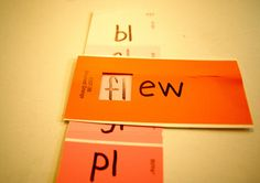 grab some paint chips, a marker, and add some consonants, blends, and digraphs