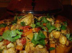 Tajine de lotte à l'orientale Lotte Au Curry, Oriental Food, Kung Pao Chicken, Summer Recipes, Cauliflower, Food And Drink, Vegetables, Ethnic Recipes, Desserts
