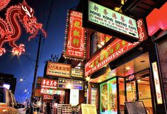 Chinatown at night in Toronto   #SilestoneTrends