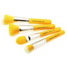 Bdellium Tools Makeup Beauty Brush Yellow Bambu Series Foundation 4pc. Brush Set #BdelliumTools