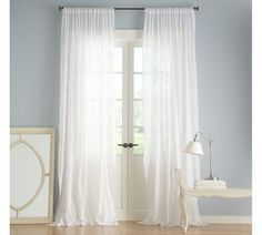 Camille\'s Beaming Bright Style | White curtains