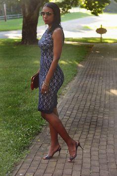 Beaute' J'adore: DIY Lace Overlay Dress
