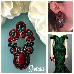 Soutache Earrings, Drop Earrings, Diy Jewelry, Jewelery, Earring Trends, Shibori, Brooch, Embroidery, Handmade