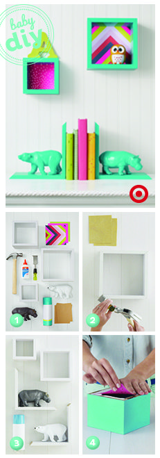 DIY nursery bookends and wall art with a great story.