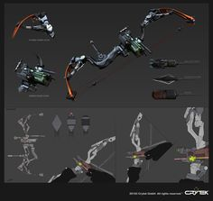Gregor Kopka talked about his experience creating weapons for video games. Learn how perspective and camera angle influences the way you build your guns. Ninja Weapons, Sci Fi Weapons, Weapon Concept Art, Fantasy Weapons, Arte Sci Fi, Sci Fi Art, Crossbow Targets, Crossbow Arrows, Future Weapons