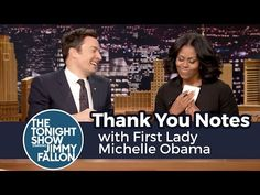 Michelle Obama Writes 'Thank You Notes' With Jimmy Fallon to Barack, Inauguration Day (Video)