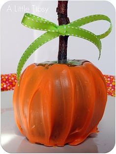 Pumpkin Caramel Apple, a fun idea for a fall-themed treat.