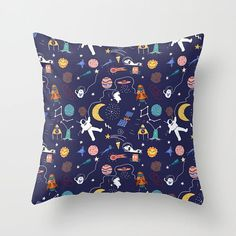 Galaxy pattern throw pillow - Shams Cover or/ and insert 16x16 18x18 20x20 and more - Bedding Gift for kids childrens bedroom Women Birthday