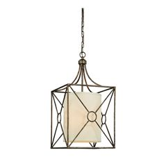 Josie Antique Copper Iron Chandelier with Fabric Shade | Overstock.com Shopping - The Best Deals on Chandeliers & Pendants