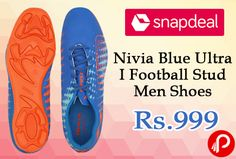 Snapdeal #Sports & #fitness #essentials #offers Nivia Blue Ultra I Football Stud Men Shoes at Rs.999 Only. The Nivia Football shoe comes in all sizes with an attractive design, The outer material is of PVC with geometric heel printing. The shoe is available with graphic printing. Available with a Rubber sole. The pair looks graceful while wearing.  http://www.paisebachaoindia.com/nivia-blue-ultra-i-football-stud-men-shoes-at-rs-999-only-snapdeal/