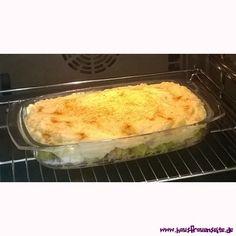 Rosenkohlauflauf unter der Kartoffelhaube - Rezept  Rezept Rosenkohlauflauf mit Kartoffeln und Schinken glutenfrei