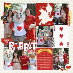 Disney Scrapbook Page - Rabbit and Alice by Melissa of Melidy Designs