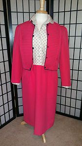 Vintage Two Piece Pink & Blue Polka Dot Dress W/ Matching Jacket, $49 including shipping