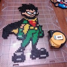 Robin - Teen Titans perler beads by nicknitro81