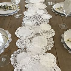 Prettie Table Runner Shab Rustic Paper Doilies Diy Weddings pertaining to proportions 900 X 900 Paper Table Runner Wedding - You could also hand applique i Doily Wedding, Wedding Paper, Rustic Wedding, Paper Doilies Wedding, Table Wedding, Wedding Ideas, Wedding Favors, Wedding Vintage, Trendy Wedding
