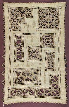 gtcgallery:Ruskin lace samplerlinen c.1933-1967