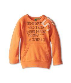 United Colors of Benetton Kids Applique Crew Sweatshirt