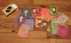 Existentialist Playing Cards by Rita Rosenfeld, via Behance