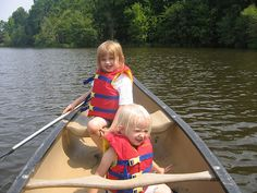 Tips for Canoeing with Kids from @Shari Woodbury