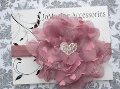 Mauve Headband  Large Flower Headband  Baby by JoMazingAccessories, $8.99