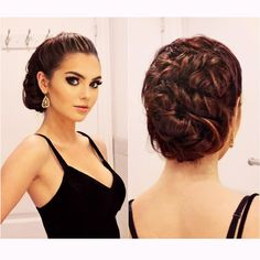 """Jackie Wyers på Instagram: """"Elegant Holiday Updo working on a couple hairstyles for different occasions this holiday season❄️ this one looks complex but it's just twisting! Ps. follow me on the app @weheartit my username is Jackie wyers, it's my new obsession I'm hearting all day lol! Dress from @hm earrings from @shopruche ⭐️ xo #hairpost #hairstyle #holidayhair"""""""