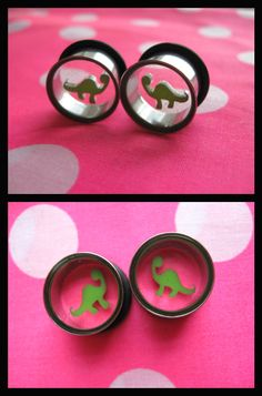 dinosaur plugs. @Rebekah Ahn Sheppard Black imma stay at 8g but i really do think this are cool
