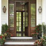 Linda McDougald Design Postcard from Paris Home is a full-service interior design firm and home furnishings boutique based in Greenville, SC. House Design, Door Design, House, Paris Home, Traditional Home Exteriors, House Exterior, Front Door, Beautiful Doors, Doors