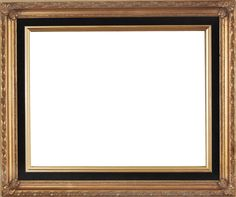 """Beautiful Picture Frame! Perfect For Artwork, Photographs, Canvas Paintings, Oil Paintings, Watercolor Paintings, Acrylic Paintings, Portraits, Wedding Pictures, Diplomas, Family Photographs & More. Classic Gold With Black Velvet Liner 2.25"""" Wide Picture Frame."""