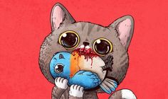 20 Adorably WTF Illustrations That Are Honest About Animals    I honestly don't know if this is cute .. or scary