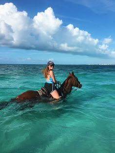 Horseback riding on the beach & in the ocean at Turks and Caicos www.sierrasays.com