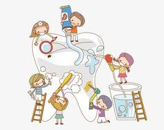 As crianças a escovar OS dentes, Um Grupo De Amigos, Escovar OS Dentes Imagem PNG