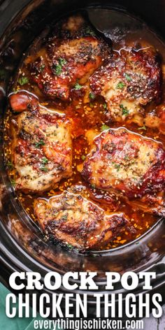 Crock Pot Chicken Thighs are tender and full of flavor with this simple sweet and spicy sauce and seasoning mixture. Crockpot Recipes Mexican, Healthy Crockpot Recipes, Cooking Recipes, Simple Crock Pot Recipes, Easy Family Recipes, Spicy Food Recipes, Cooking Tips, Healthy Slow Cooker, Freezer Cooking