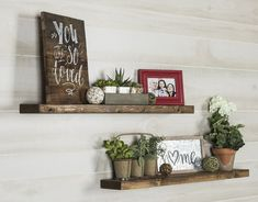 Revitalize your space with these easy-to-install shelves.The industrial, urban brackets are made from high-grade steel and the pine shelves bring great rustic appeal. These shelves are the perfect addition for displaying photos, decor, and more. Floating Shelf Decor, Wood Floating Shelves, Pine Shelves, Nursery Shelves, Room Shelves, Shelves Above Couch, Living Room Wall Shelves, Shelf Wall, Display Shelves