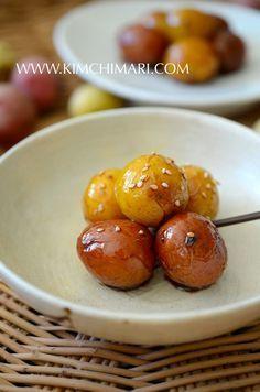 korean potato side dish or Gamja Jorim plated as banchan