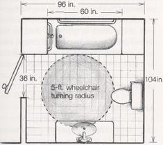 Ada Handicap Bathroom Floor Plans >> Learn more at DisabledBathrooms… - Modern Ada Bathroom, Handicap Bathroom, Bathroom Floor Plans, Bathroom Flooring, Master Bathroom, Bathroom Ideas, Bathroom Vanities, Bathroom Drawing, Bathroom Plumbing
