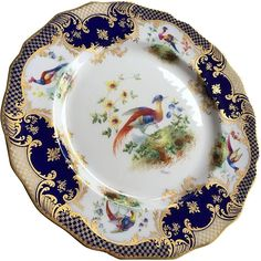 """Antique Royal Doulton Signed Cabinet Plate 10"""""""