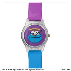 Shop Cookie Smiling Face with Halo Wristwatch created by SesameStreet. Presents For Kids, Watch Faces, Smile Face, Digital Watch, Cool Gifts, Halo, Fashion Accessories, Cookie, Quartz