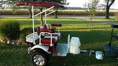 Club Car Yamaha Ez Go Custom Built Golf Cart Trailer Pull Behind Tag A