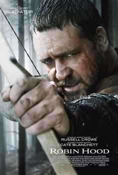 Robin Hood (2010) When Robin happens upon the dying Robert of Loxley, he promises to return the man's sword to his family in this big-budget twist on the classic tale. There, Robin assumes Robert's identity; romances his widow; and draws the ire of the town sheriff.  Russell Crowe, Cate Blanchett, Matthew Macfadye...TS action