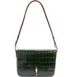 2eb8a42b030f Elizabeth and James  Cynnie  Croc Embossed Leather Shoulder Bag