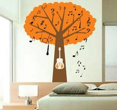 Musical Tree Decal