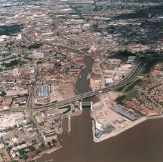Aerial view of Kingston upon Hull, East Yorkshire, England