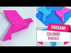 Comment faire une colombe en origami (Tutoriel Facile)