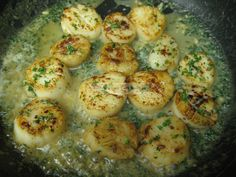 I bought some beautiful, huge sea scallops during the holidays and cooked them up this way tonight.  As written, this recipe is unacceptable for Induction.  But if you leave out the wine, it...