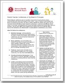 Parent-Teacher Conference Tip Sheets for Principals, Teachers, and Parents / Browse Our Publications / Publications & Resources / HFRP - Harvard Family Research Project