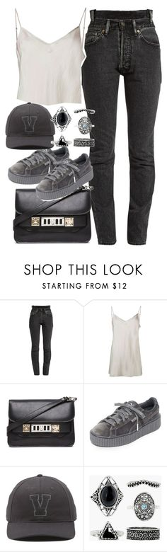 """""""Untitled #3870"""" by plainly-marie ❤ liked on Polyvore featuring Vetements, Beautiful People, Proenza Schouler, Puma, Vans and Boohoo"""