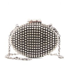 mytheresa.com - Christian Louboutin - MINA STUDDED CLUTCH - Luxury Fashion for Women / Designer clothing, shoes, bags