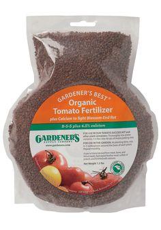 Organic Tomato Fertilizer Gardeners Supply Totally Tomatoes